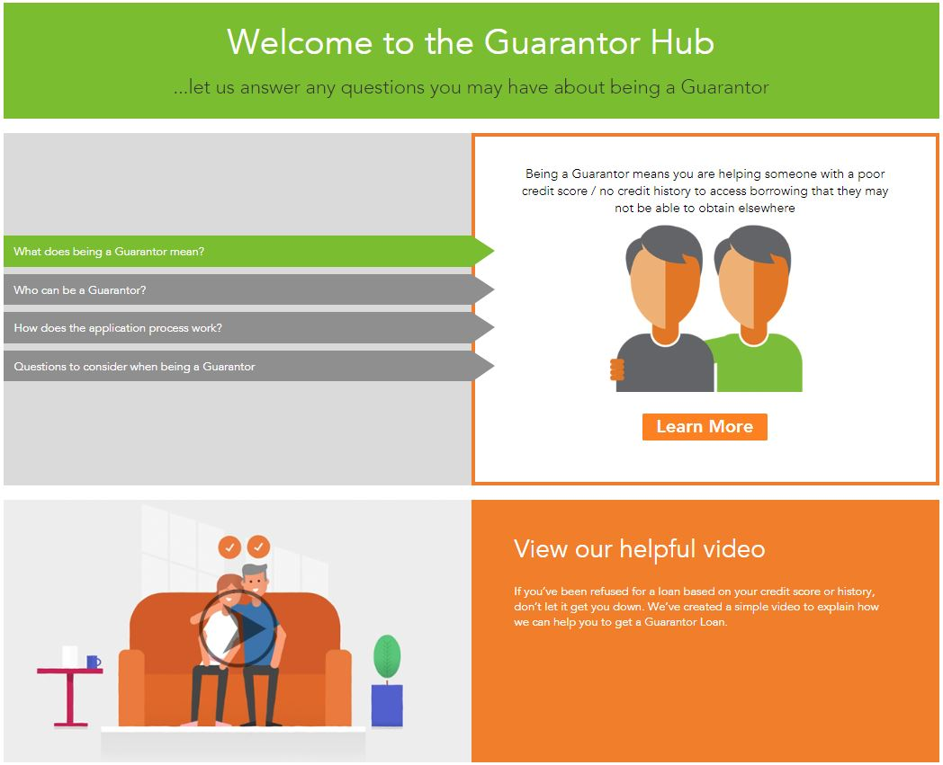 Welcome to the guarantor hub page