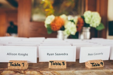 Using corks as a name place holders for events