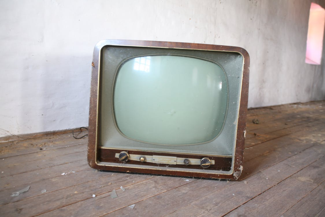 old television in a room