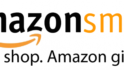 Amazon Smile in white background