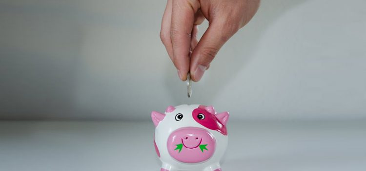 Piggy Bank - Pink and White Clay