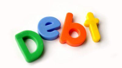 Letter Magnets - Debt